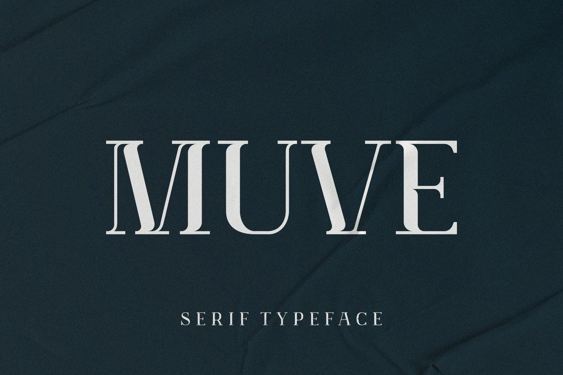 优雅轻奢现代时尚Logo杂志海报标题衬线英文字体素材 Muve Serif Font插图