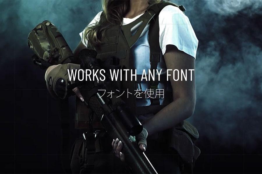 15个影片组员介绍列表标题设计动态文本演示AE视频模板素材 Hitech Text + Frame Presets插图