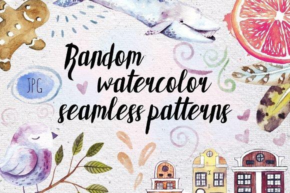 500多款可爱卡通动物花卉手绘水彩画设计素材 500+ENTIRE SHOP BUNDLE Watercolors插图13