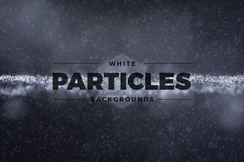 11个抽象白色粒子纹理海报设计背景底纹图片素材 Abstract White Particles Background插图