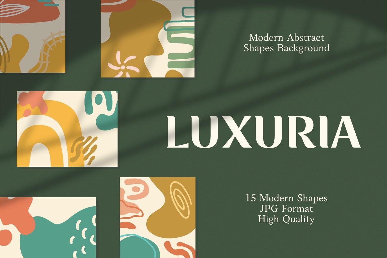 15款高清抽象品牌包装设计背景图片素材 Luxuria – Abstract Background插图