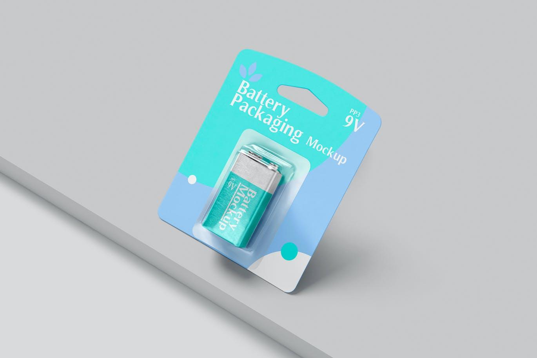 PP3电池包装设计展示贴图样机 PP3 Battery Packaging Mockups插图3