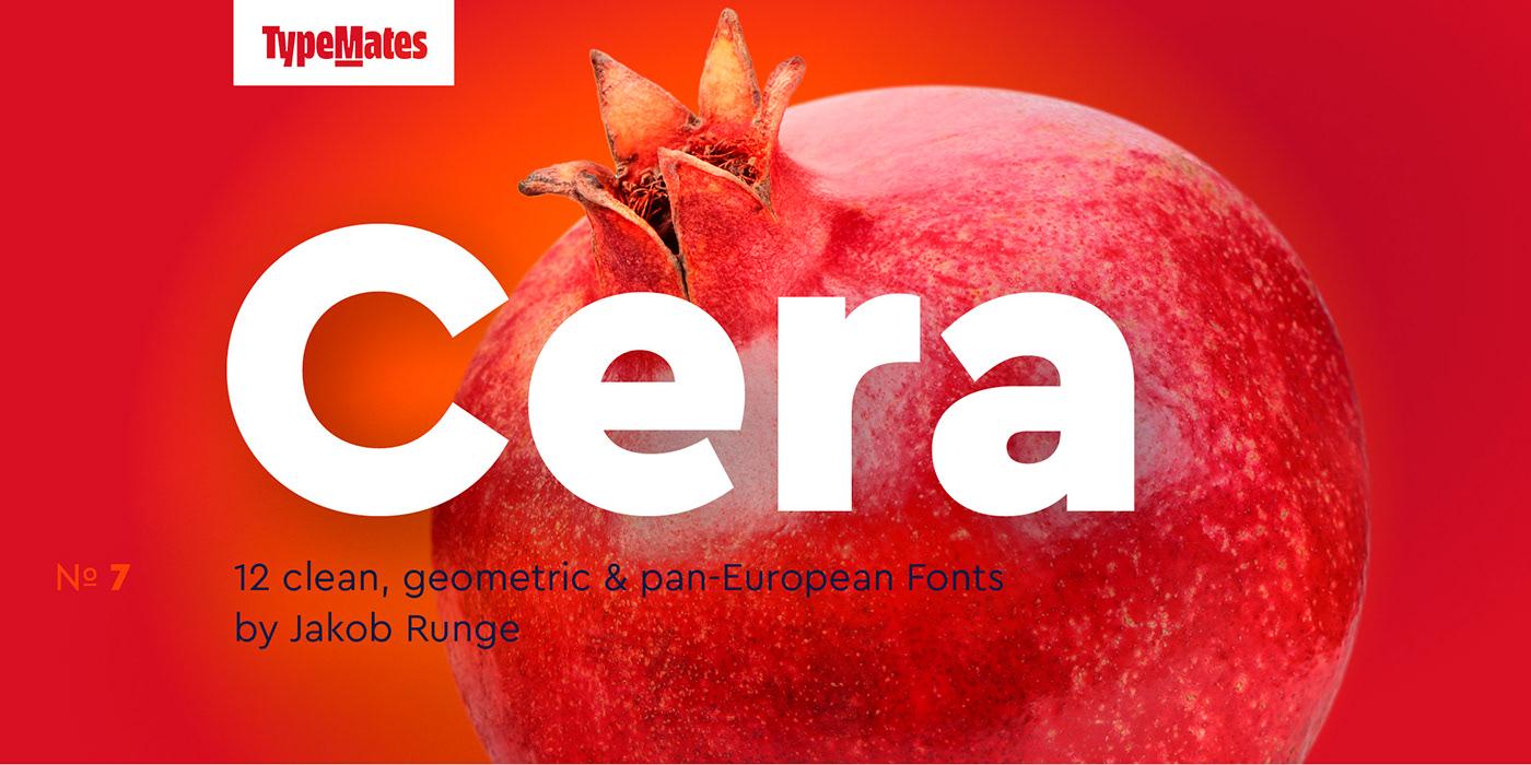 时尚优雅杂志标题Logo设计无衬线英文字体素材 Cera Pro Font Family插图