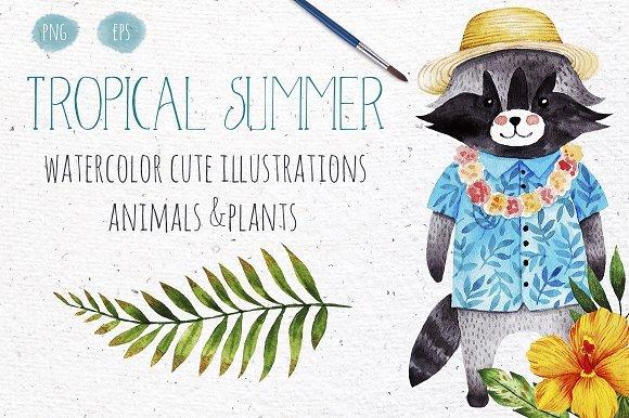 500多款可爱卡通动物花卉手绘水彩画设计素材 500+ENTIRE SHOP BUNDLE Watercolors插图5