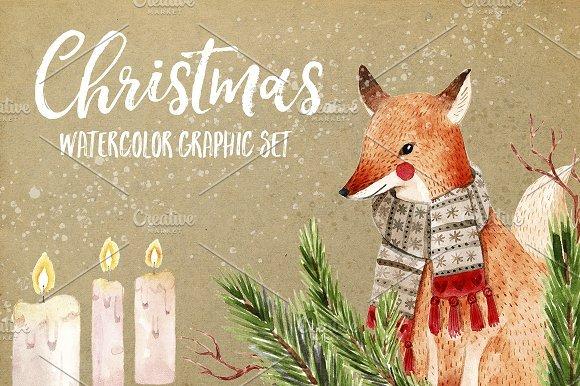 500多款可爱卡通动物花卉手绘水彩画设计素材 500+ENTIRE SHOP BUNDLE Watercolors插图6