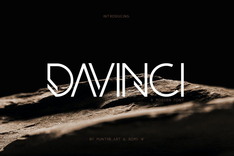 现代时尚品牌杂志海报标题Logo设计无衬线英文字体素材 DAVINCI Modern Sans Fonts插图