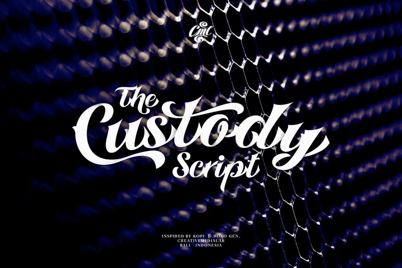 时尚复古哥特式标题徽标Logo手写英文字体素材 Custody Script – Tattoo Font插图