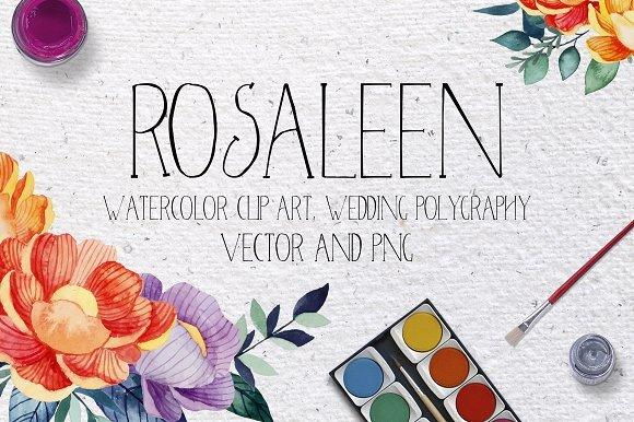 500多款可爱卡通动物花卉手绘水彩画设计素材 500+ENTIRE SHOP BUNDLE Watercolors插图8