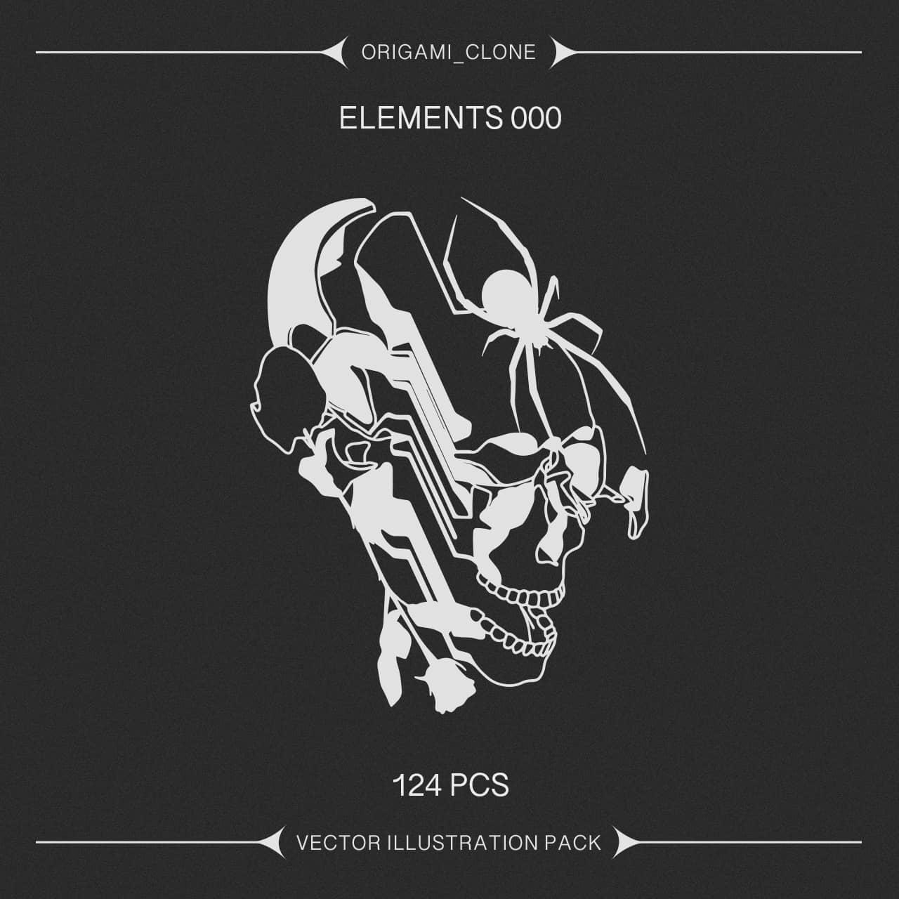 [单独购买] 124款潮流贴纸图标徽标Logo设计矢量素材套装 Studio Innate – Elements 000插图4