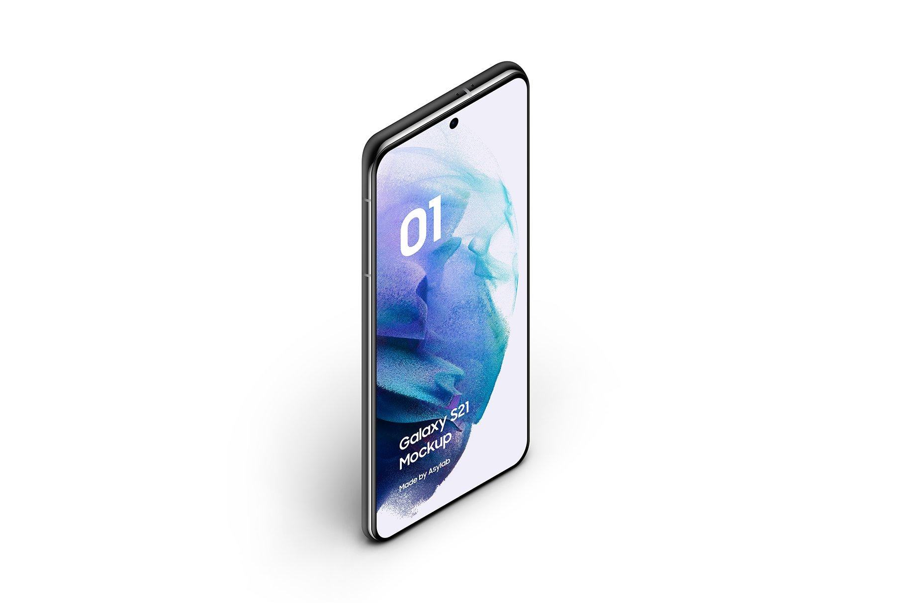 [单独购买] 20款三星Galaxy S21手机网站APP界面设计演示样机模板套件 Galaxy S21 – 20 Mockups Scenes插图15