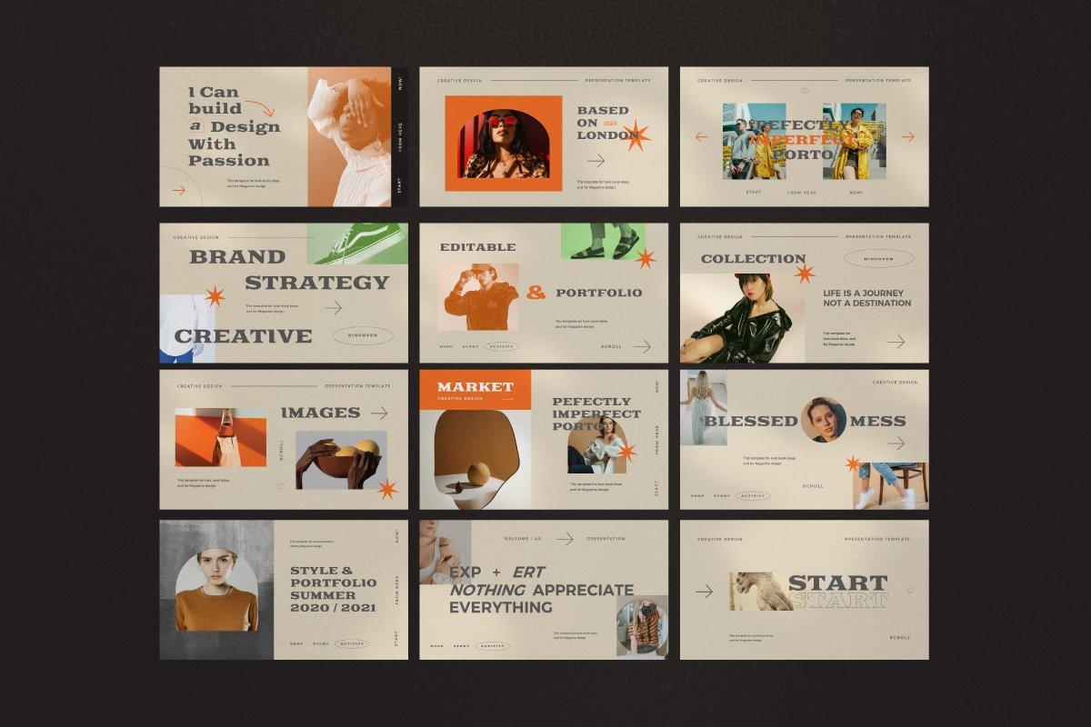 时尚创意服装潮牌品牌提案简报演示文稿设计模板 Start – Creative Agency Powerpoint插图11