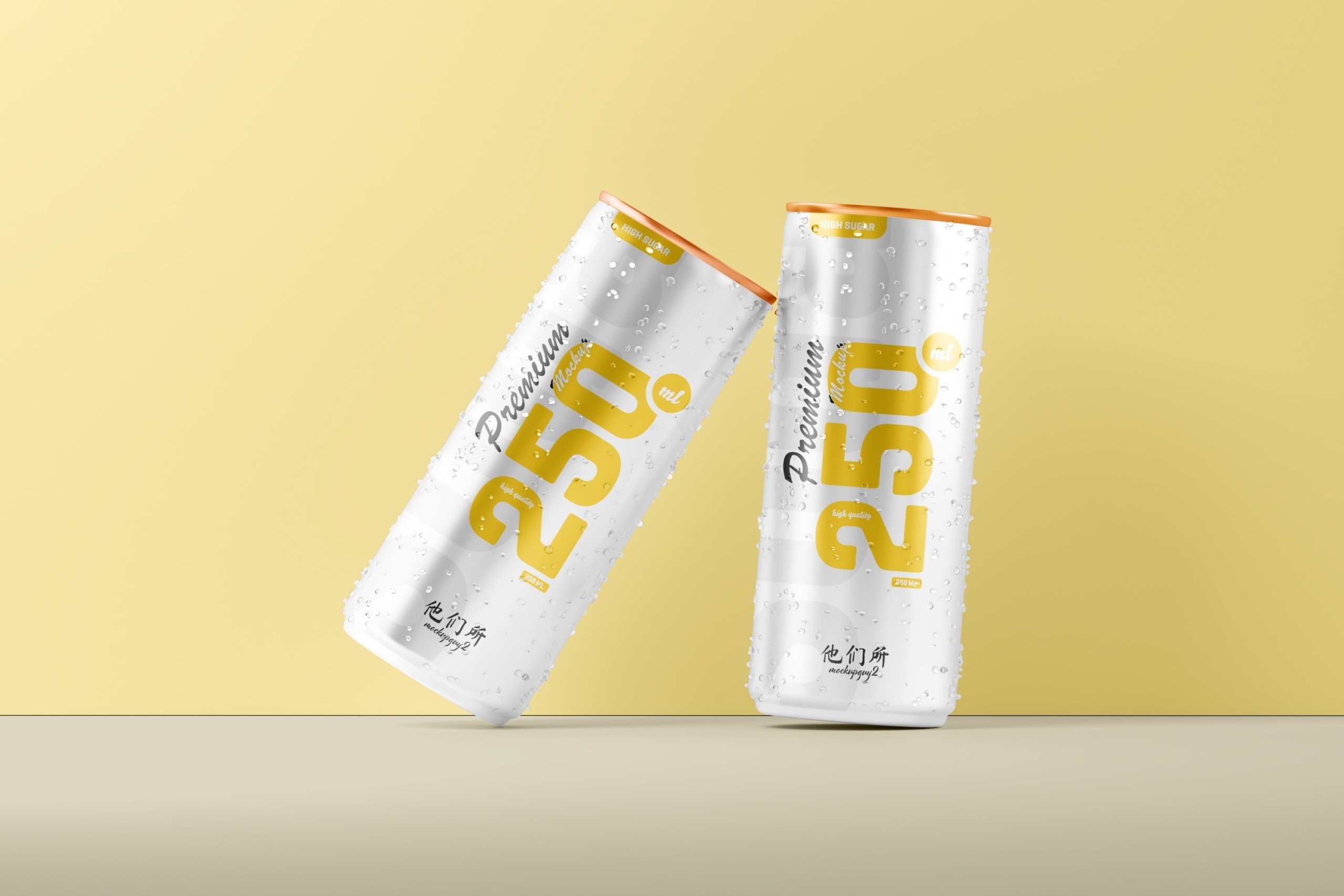 10款250ml啤酒饮料苏打水锡罐易拉罐设计展示样机 250ml Soda Can Mockup插图11