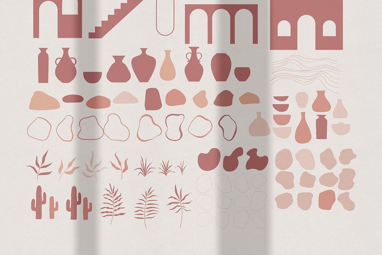 [单独购买] 150个抽象山丘建筑几何图案矢量设计素材 DUNE Abstractions & Prints插图9