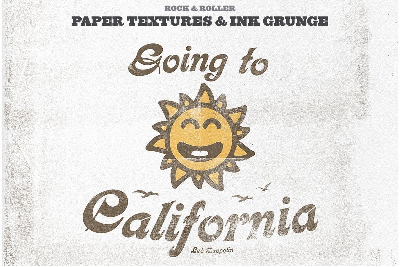 潮流复古做旧墨水套印浮雕效果标题海报设计PS素材套件 Rock And Roller Letterpress Kit插图9