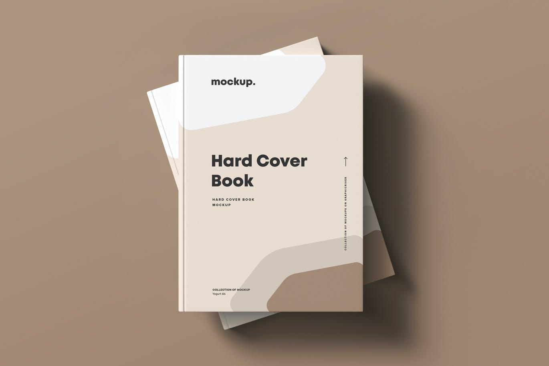 8款精装书封面设计展示贴图样机模板素材 Hard Cover Book Mock-up插图4