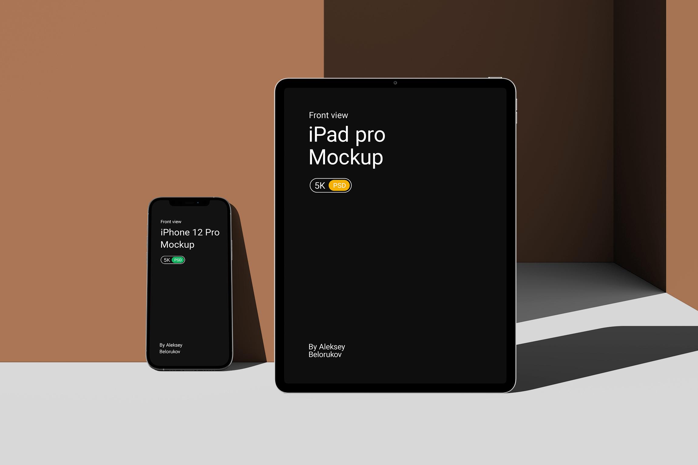 [单独购买] 15个超清前视图网页APP界面设计苹果设备屏幕演示样机 Device Pack Mockups – Front View插图16