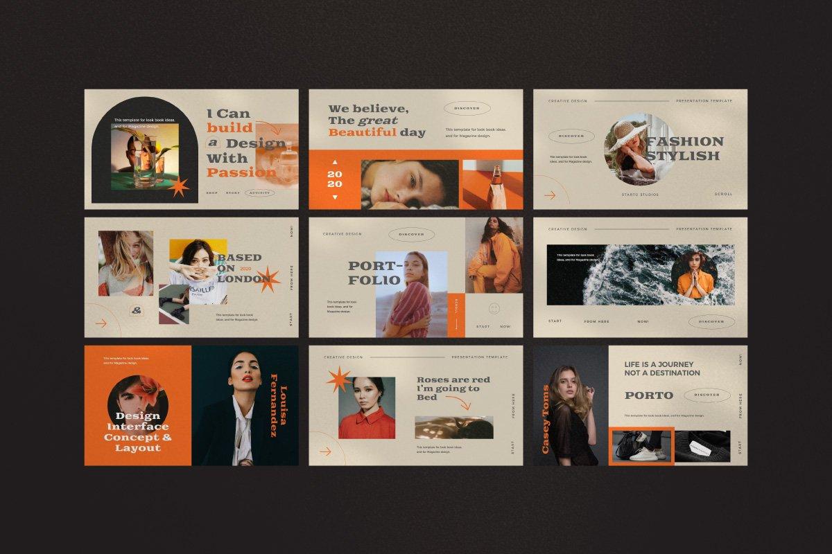 时尚创意服装潮牌品牌提案简报演示文稿设计模板 Start – Creative Agency Powerpoint插图9