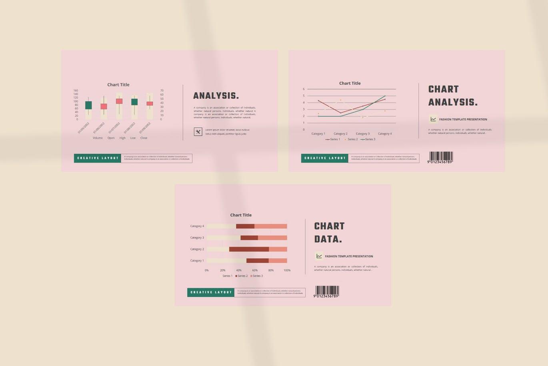 潮流撞色服装作品集演示文稿设计模板素材 MICHALINA Powerpoint Template插图10
