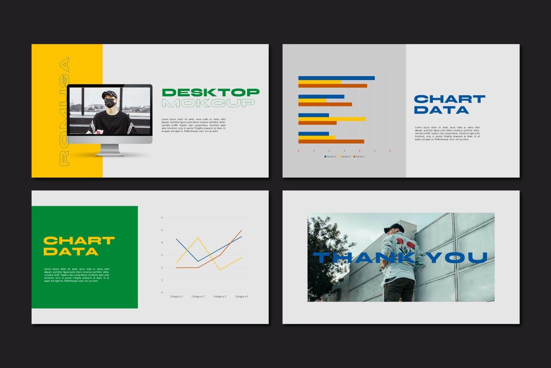 简约人像风景摄影作品集排版设计演示文稿模板 Romusa Powerpoint Template插图7