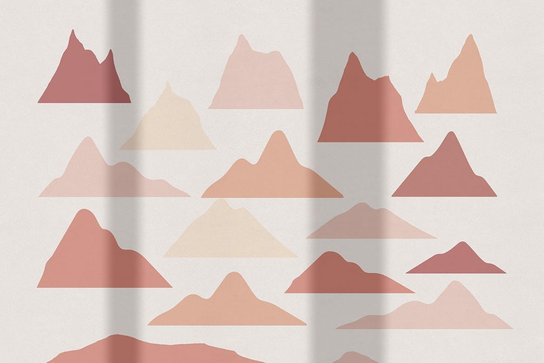 [单独购买] 150个抽象山丘建筑几何图案矢量设计素材 DUNE Abstractions & Prints插图10