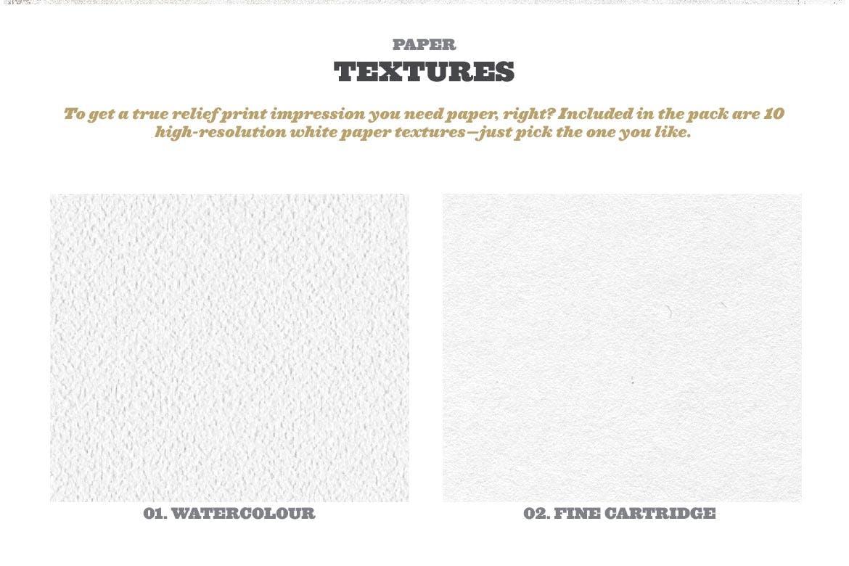 潮流复古做旧墨水套印浮雕效果标题海报设计PS素材套件 Rock And Roller Letterpress Kit插图10