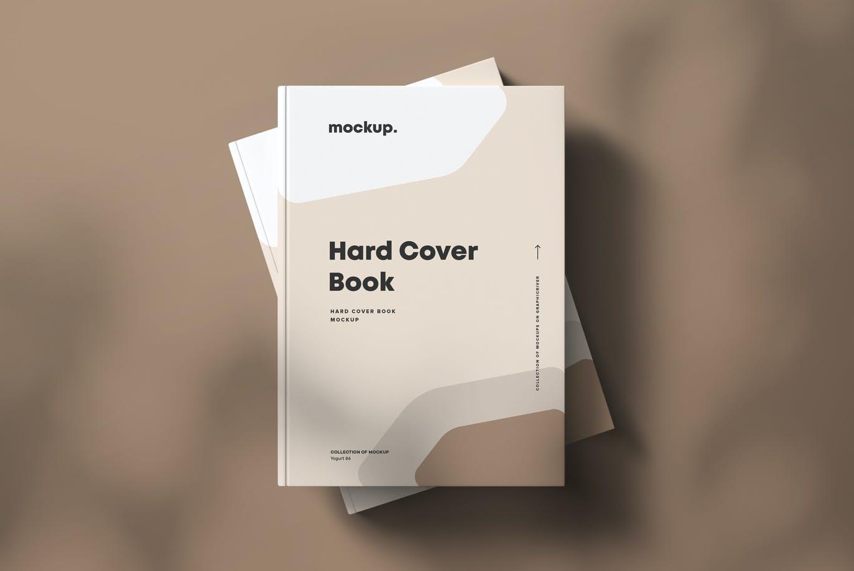 8款精装书封面设计展示贴图样机模板素材 Hard Cover Book Mock-up插图5