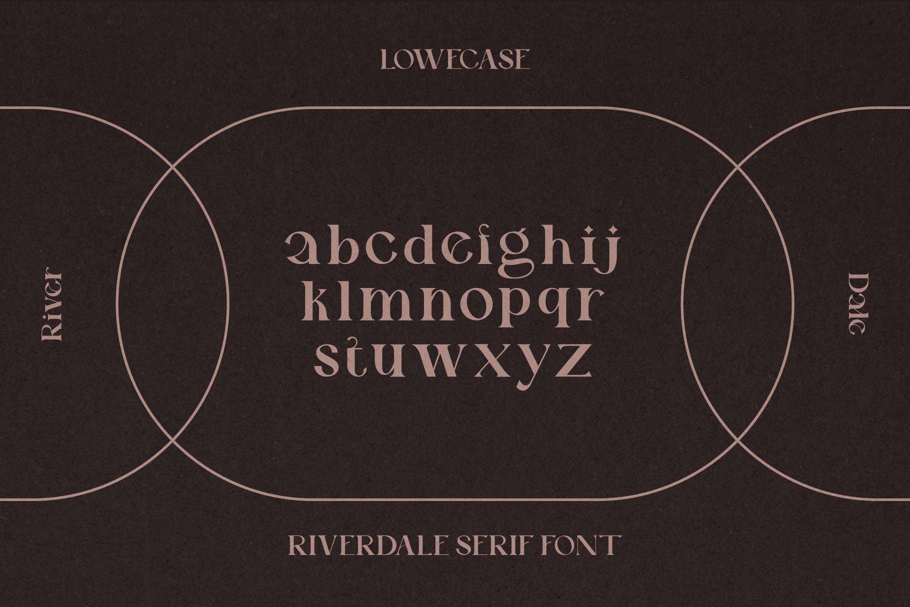 时尚优雅品牌Logo海报标题设计衬线英文字体素材 Riverdale Serif Font插图11