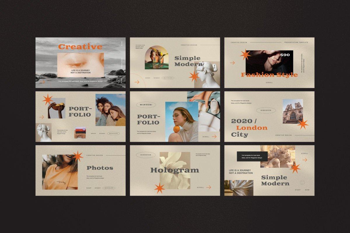 时尚创意服装潮牌品牌提案简报演示文稿设计模板 Start – Creative Agency Powerpoint插图10