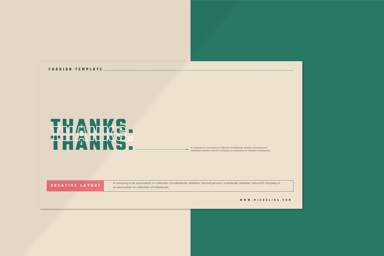 潮流撞色服装作品集演示文稿设计模板素材 MICHALINA Powerpoint Template插图11