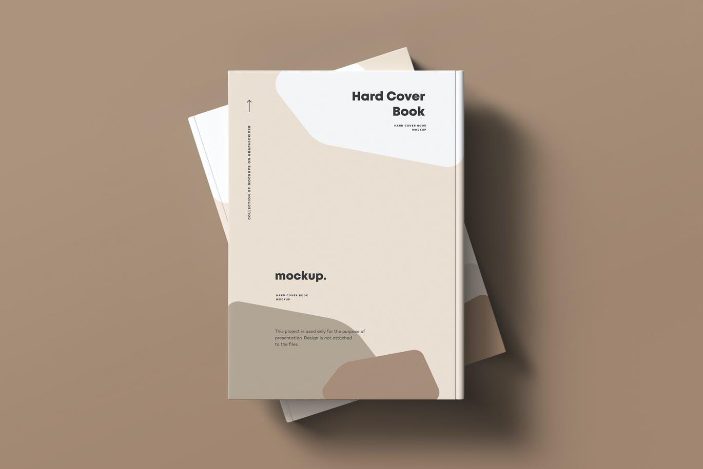 8款精装书封面设计展示贴图样机模板素材 Hard Cover Book Mock-up插图6