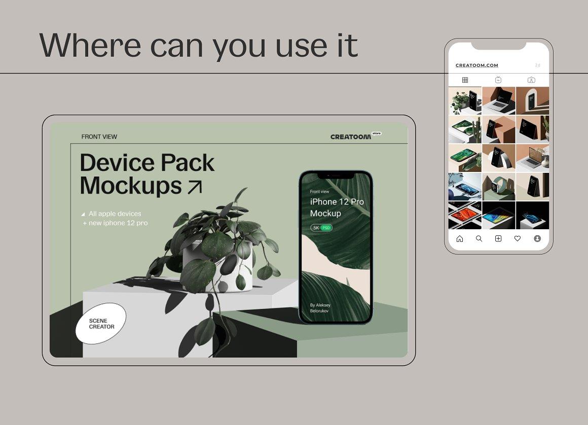 [单独购买] 15个超清前视图网页APP界面设计苹果设备屏幕演示样机 Device Pack Mockups – Front View插图19