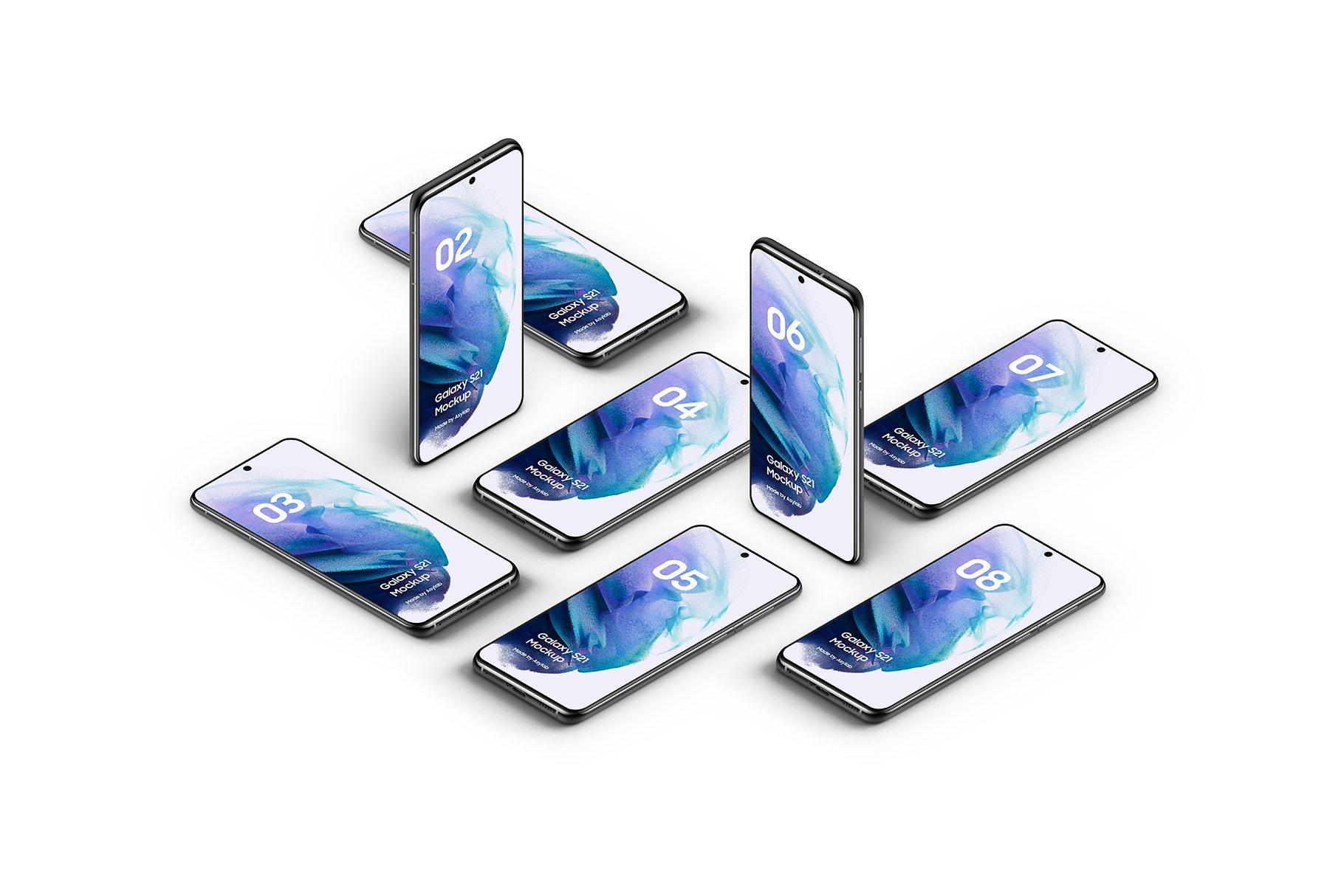 [单独购买] 20款三星Galaxy S21手机网站APP界面设计演示样机模板套件 Galaxy S21 – 20 Mockups Scenes插图18