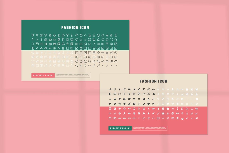 潮流撞色服装作品集演示文稿设计模板素材 MICHALINA Powerpoint Template插图12