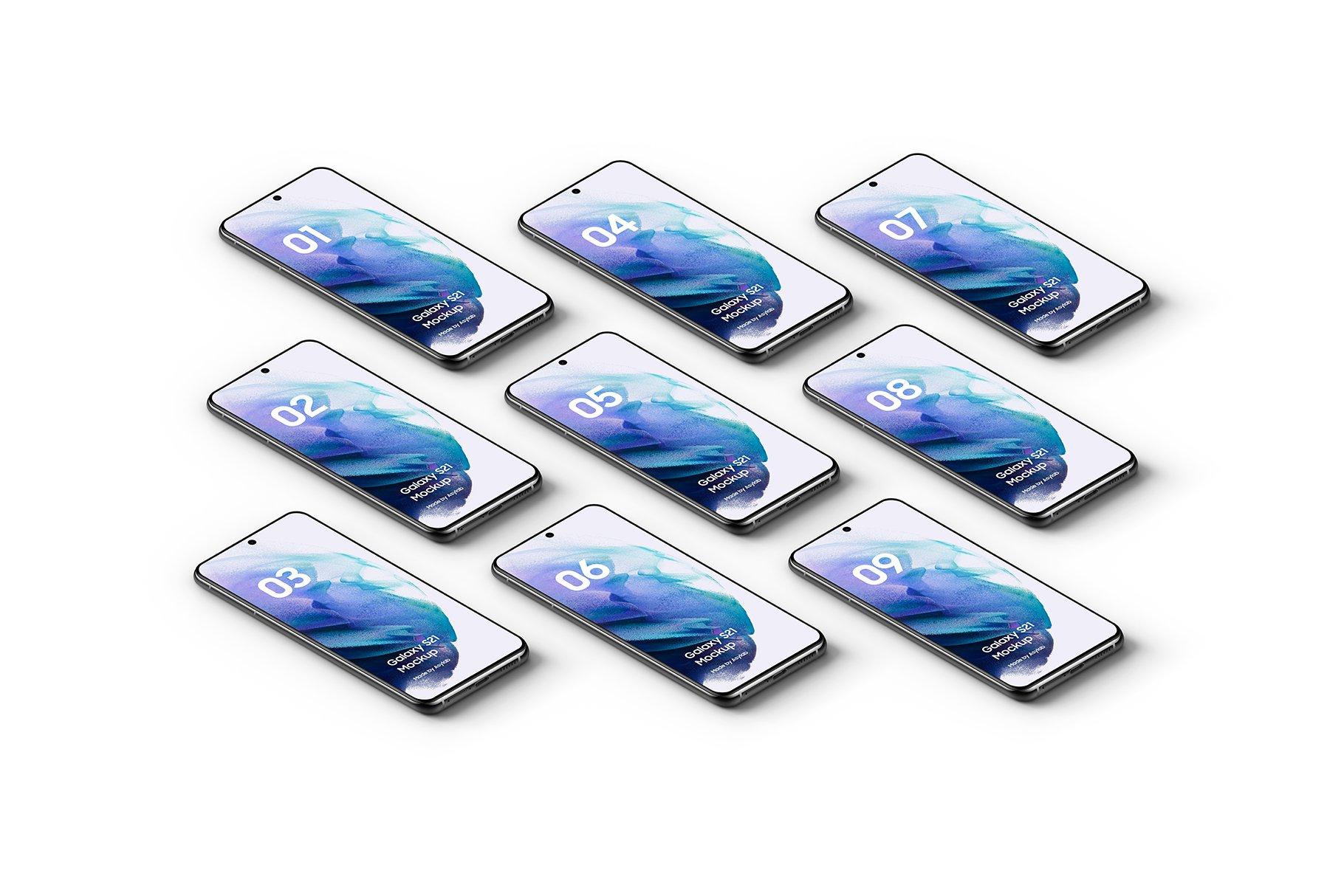 [单独购买] 20款三星Galaxy S21手机网站APP界面设计演示样机模板套件 Galaxy S21 – 20 Mockups Scenes插图19