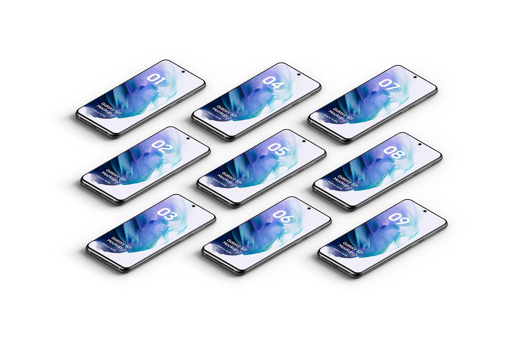 [单独购买] 20款三星Galaxy S21手机网站APP界面设计演示样机模板套件 Galaxy S21 – 20 Mockups Scenes插图20