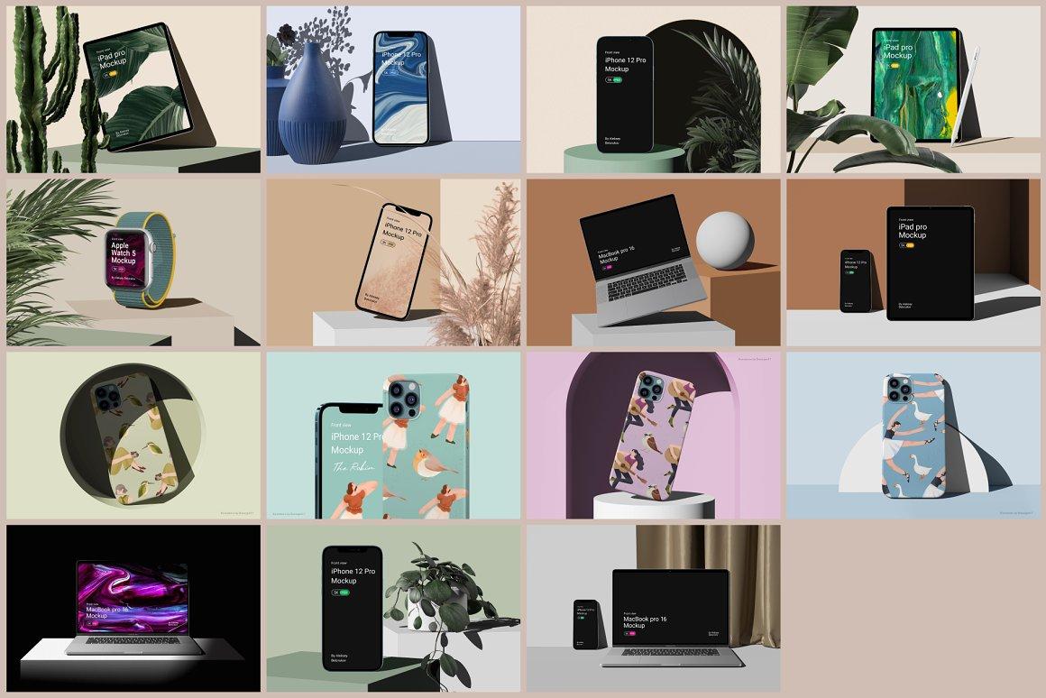 [单独购买] 15个超清前视图网页APP界面设计苹果设备屏幕演示样机 Device Pack Mockups – Front View插图22