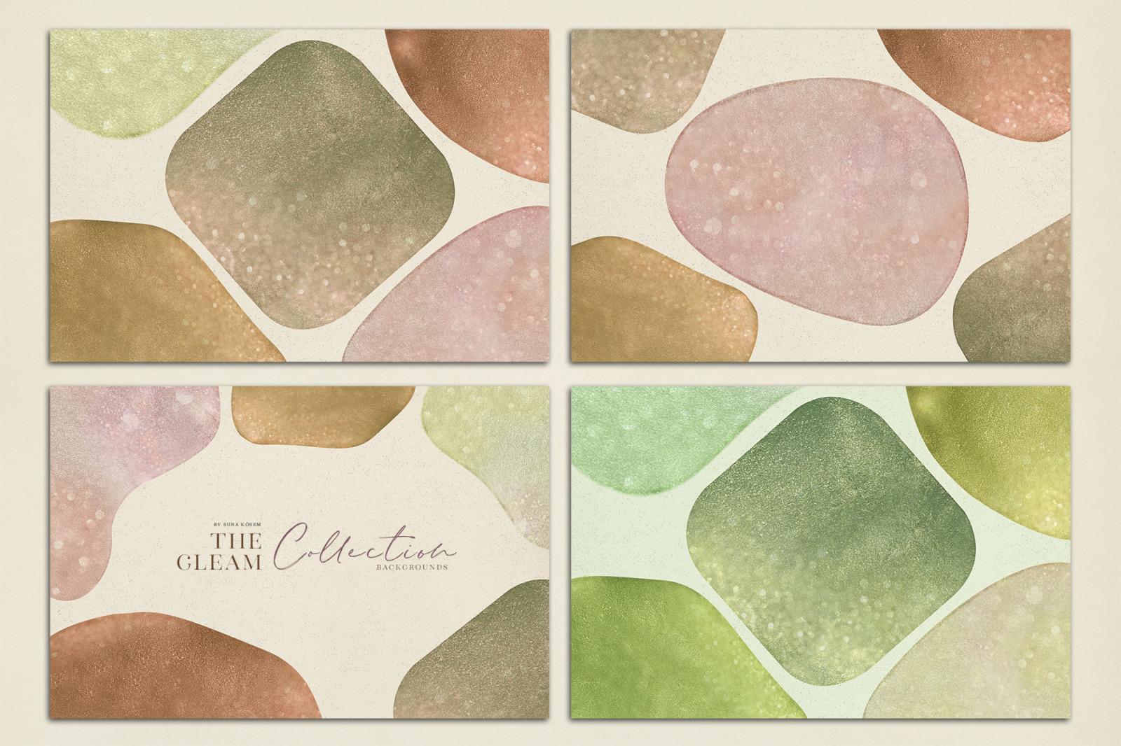 抽象闪闪发光水彩背景图片设计素材 The Gleam Watercolor Shapes插图6