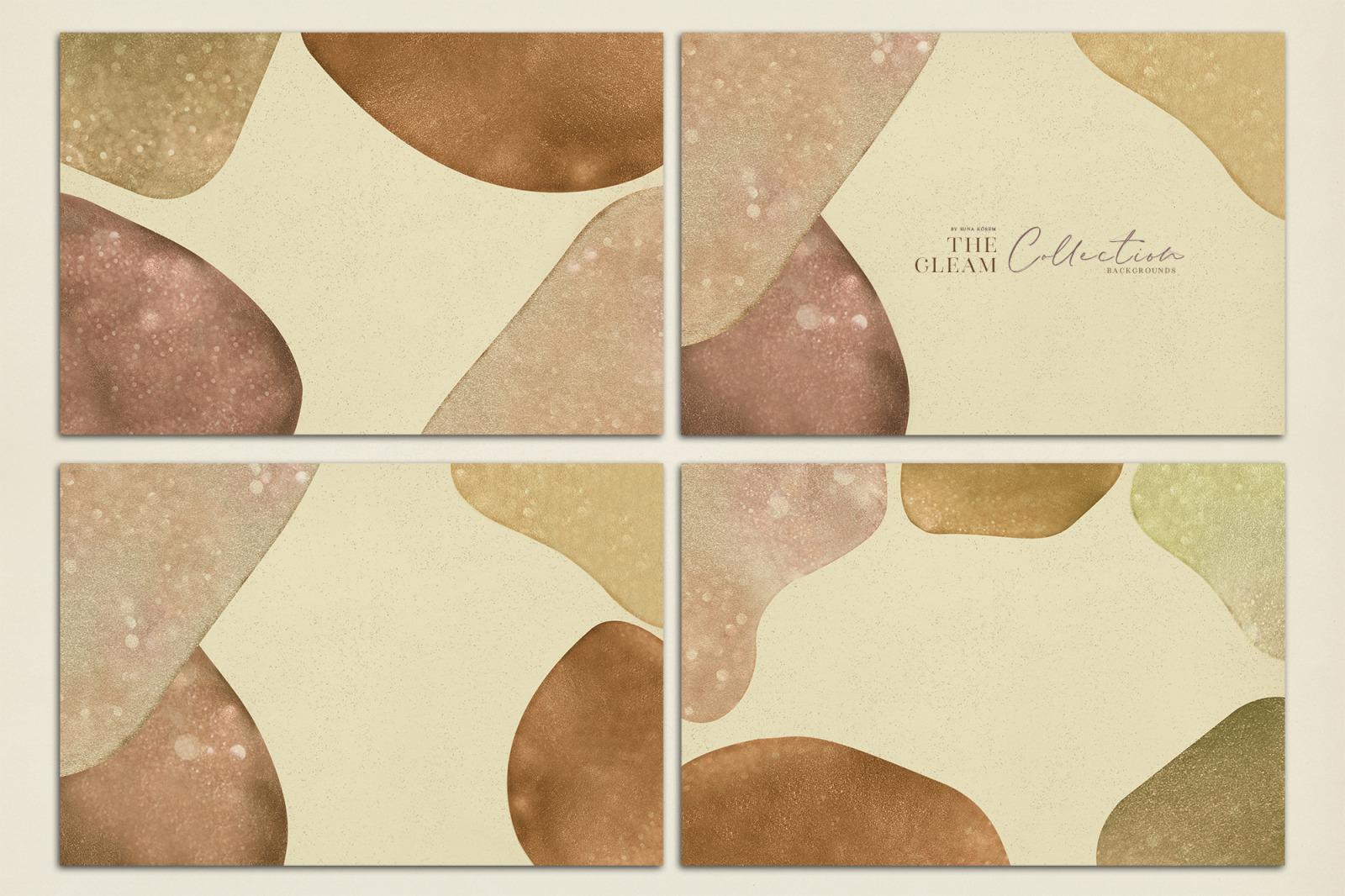 抽象闪闪发光水彩背景图片设计素材 The Gleam Watercolor Shapes插图7