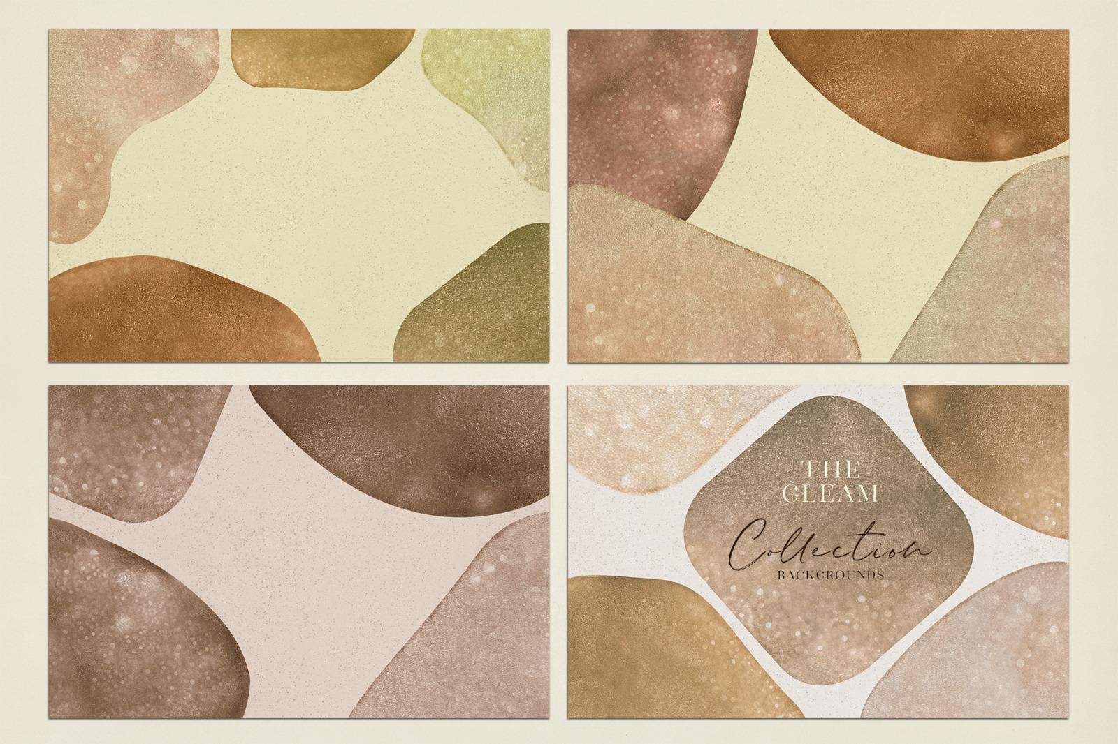 抽象闪闪发光水彩背景图片设计素材 The Gleam Watercolor Shapes插图8