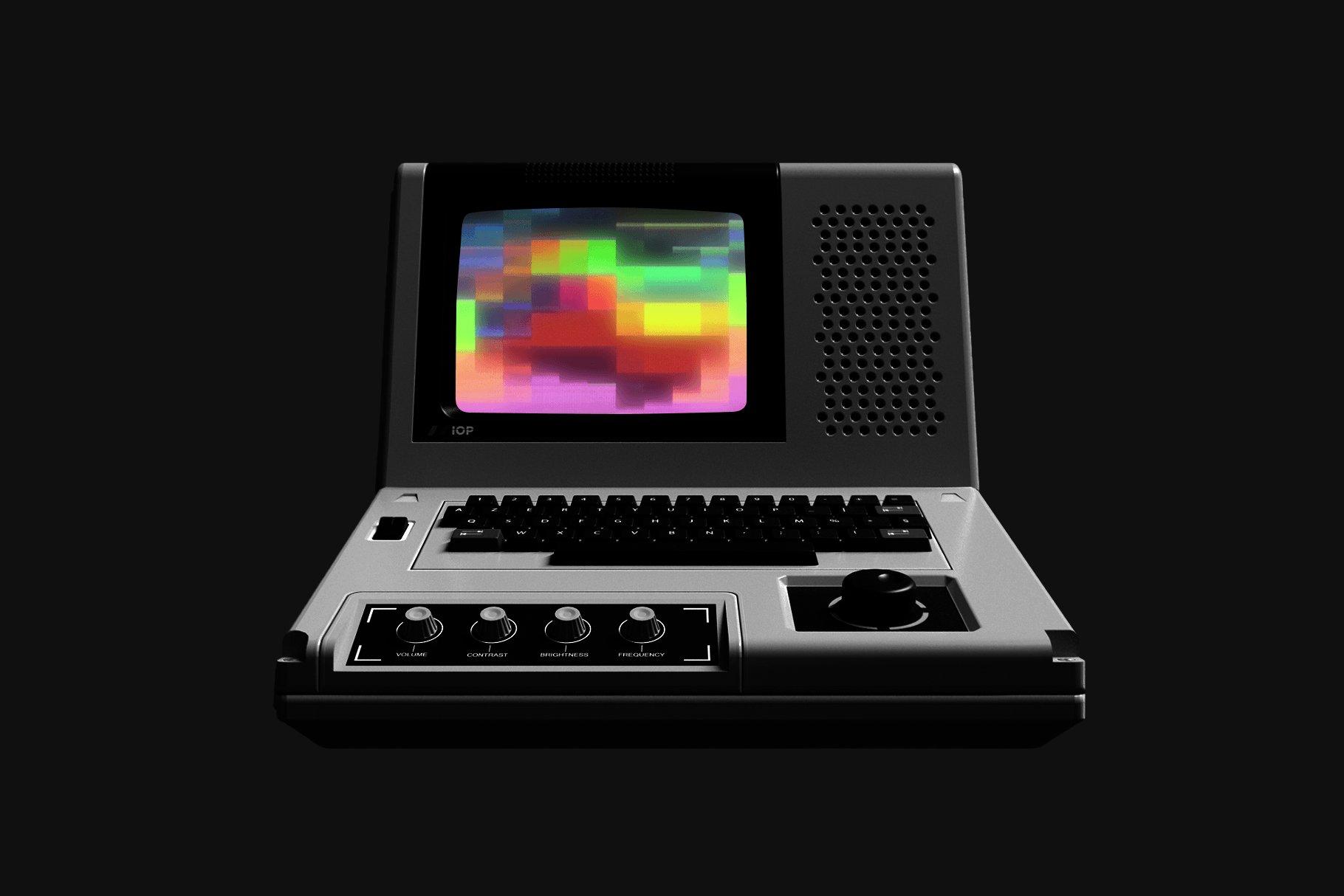 [单独购买] 潮流故障颗粒网格渐变VHS样式纹理背景图片视频设计素材套装 Studio 2am – Sensory – Retro Animated Textures插图1