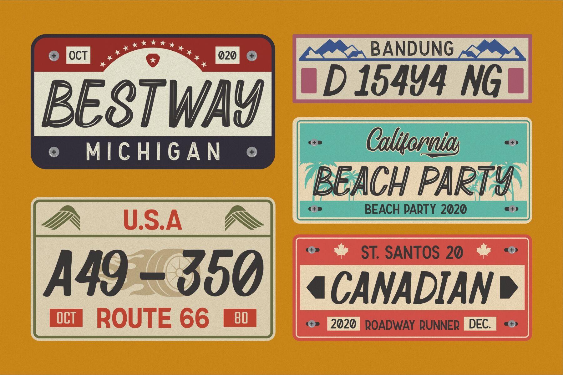 怀旧复古电影海报标题Logo设计手写英文字体素材 Retrosey – Garisman Studio插图1