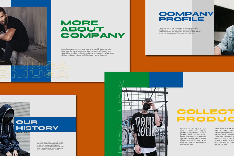 简约人像风景摄影作品集排版设计演示文稿模板 Romusa Powerpoint Template插图1