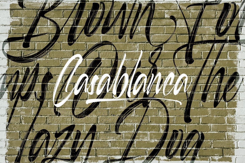 毛笔笔触品牌海报徽标Logo手写英文字体素材 Selfakia Brush Font插图1