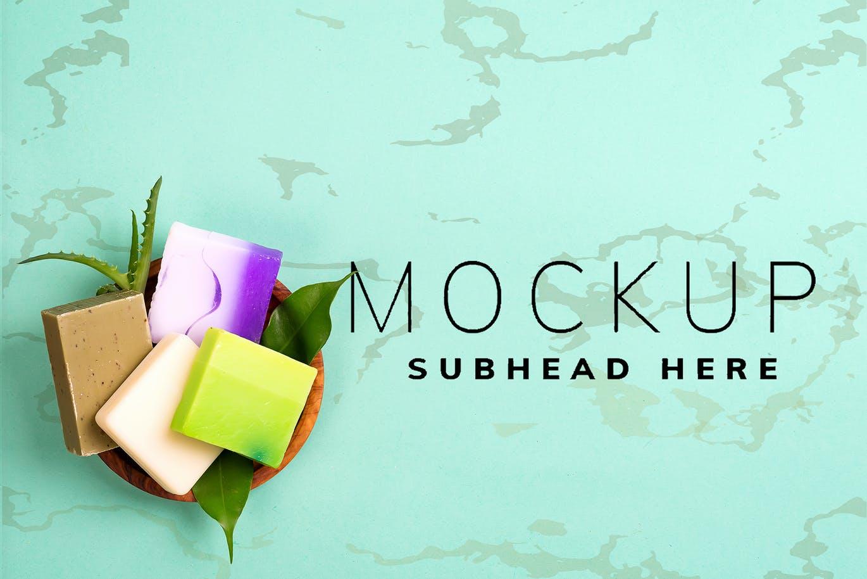 10个香皂标签包装纸设计展示样机套装 Handmade Soap Bar Mockup Bundle插图1
