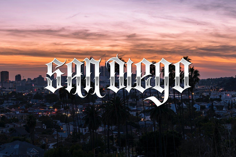 时尚复古哥特式品牌纹身徽标Logo装饰英文字体 Southside Extra Bonus插图1