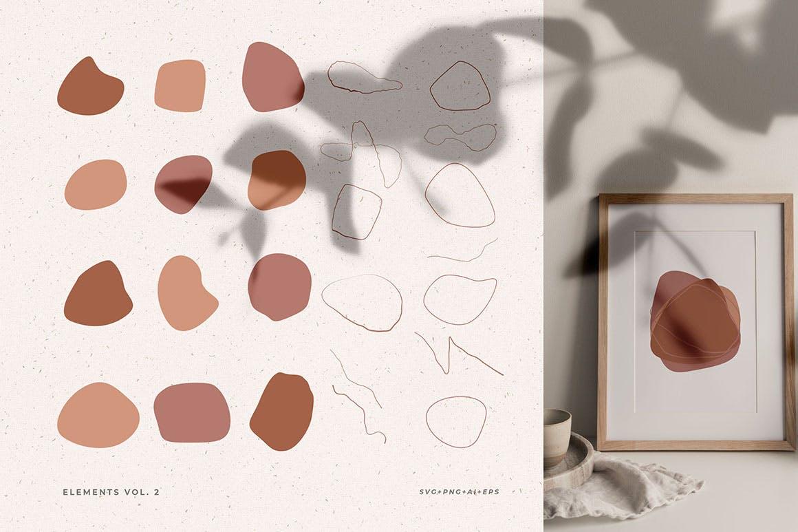 160多款现代抽象女性插图几何图案矢量设计素材 Modern Abstract Illustrations插图1