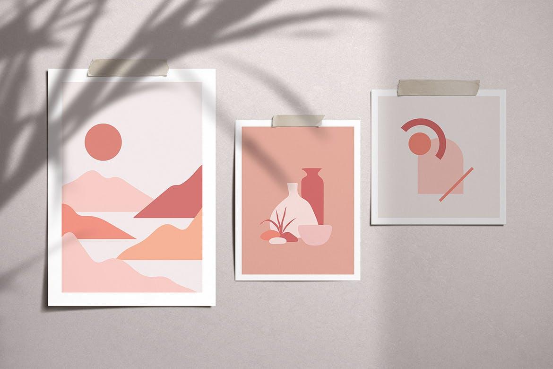 [单独购买] 150个抽象山丘建筑几何图案矢量设计素材 DUNE Abstractions & Prints插图1