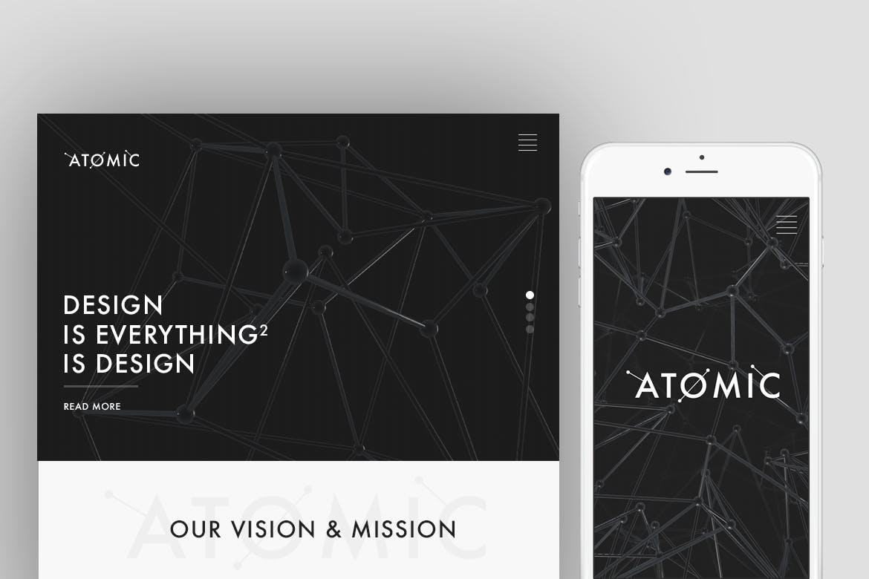 30款抽象科幻金属原子海报设计背景图片素材 Atomic – 30 Abstract Design Pack插图1