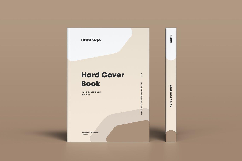 8款精装书封面设计展示贴图样机模板素材 Hard Cover Book Mock-up插图9