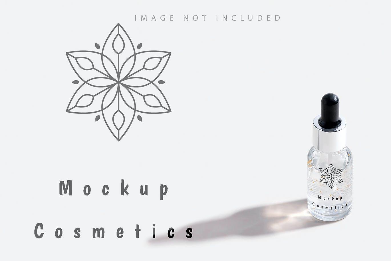 6款药物化妆品滴管瓶设计展示贴图样机合集 Dropper Bottle Mockup Set插图1